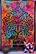 Indian Tree Of Life Multi Dye Wall Hanging Elephant Tapestry Throw Ethnic Art