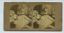 Woman Reclining Erotic Pose - Stereoview - Attrib. Gaudin Brothers c1850s