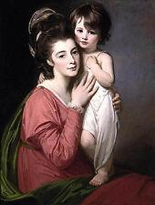 Art Oil George Romney - Portrait of Mrs Henrietta Morris and Her Son John canvas