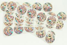 50 X 1 pollice ROUND OLOGRAFICA Graffiare gli adesivi-WEDDING, HEN & Stag PARTY