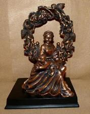 "Mother and Child with Cherub Arch Statue 2 Pc Copper Finish 10"" T x 7 1/8"" W"