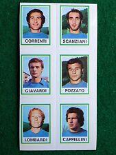 CALCIATORI 1974-75 74-1975 n 563 COMO 6 giocatori , Figurina Panini NEW