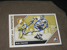 KEITH TKACHUK AUTOGRAPHED 2007-2008 ITG HEROES AND PROSPECTS CARD