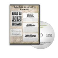 The American Locomotive Company - 5 Historic Train Books on CD - D453
