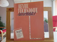 REVUE TECHNIQUE AUTOMOBILE N°176 DECEMBRE 1960 TBE