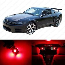 6 x Brilliant Red LED Interior Light Package For 1994 - 2004 Ford Mustang