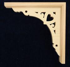"L&G's Victorian Gingerbread Fretwork Pine Arch Heart Corner Trim Bracket 10"""