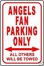 "ANGELS FAN PARKING ONLY 12""x18"" ALUMINUM SIGN"