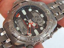 Vintage,Men's TITANIUM CITIZEN Master's DIVER'S 200M Aqualand Duplex Watch C506-