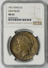 1921 High Relief Peace Dollar $1 MS 62 NGC