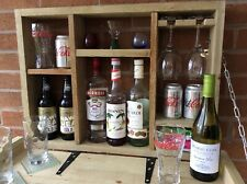* XMAS IDEA * Handmade Rustic Wall Mounted Bar. REDUCED BY 10% FOR AUTUMN/WINTER