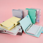 A6 PU Leather Notebook Binder Budget Planner Organizer Cover Pockets Sheets NEW