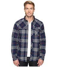 NWT Kavu Stewart Mens Insulated Long Sleeve Flannel Shirt UPF 30, XXL, 2XL, Navy