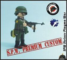 SOLDADO GUARDIA CIVIL DIVISION AZUL WW2 GUERRA MUNDIAL SOLDIER MP40 MG PLAYMOBIL