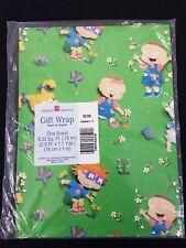Vintage American Greetings Gift Wrap Rugrats Green 1 Sheet 8.33 Sq. Ft.