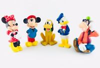 Vintage Disney Lot of 5 Classic Figures, Minnie, Mickey, Donald, Pluto, Goofy