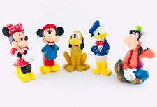 Vintage Disney Lot of 5 Classic Figures, Minnie, Mickey, Donald, Pluto, Goofy