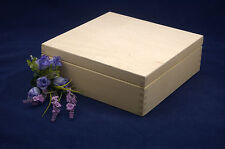 Plain Wooden Tea Box 9 Compartments Perfect For Decoupage and other Crafts