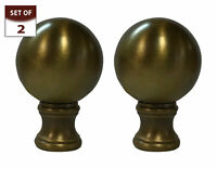 Royal Designs Large Ball Lamp Finial for Lamp Shade- Antique Brass