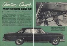 Mercedes-Benz 220 SE / W 111 Coupé  / Eugen Böhringer - Original Test von 1961