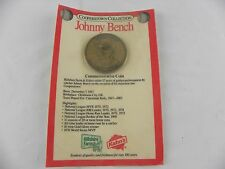 1989 Kahn's Hillshire Farm Cooperstown Collection Johnny Bench Reds Coin
