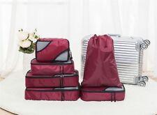 Set cubo vinsani 6PC & Lavanderia/Shoe Bag-viaggio bagagli organizzatori Borse-rosso