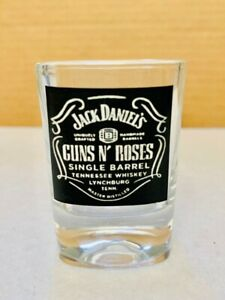 JACK DANIELS  2 OZ CLASSIC COLLECTIBLE SHOT GLASS GUNS N ROSES ROCK AND ROLL