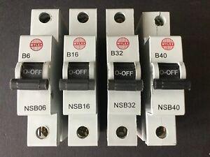 Wylex NSB Series NSB06 NSB10 NSB16 NSB20 NSB32 NSB40 NSB50 MCB