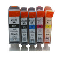 5x Ink Cartridge PGI 220 CLI221 Compatible For Canon PIXMA MP560 MP620 MP620B