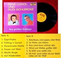 LP René Carol & Rudi Schuricke: Ihre größten Schlager (Luxor Gold 41 013) D