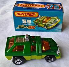 MATCHBOX SUPERFAST #59 MK5 PLANET SCOUT SPACE VEHICLE GREEN YELLOW MINT BOX