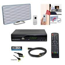 Kit TNT HD - Décodeur TNT DVB-T2 H.265 USB HDMI Péritel + Mini antenne HDTV