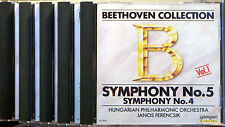 Beethoven: Symphonies Nos 1-9: Complete Recording (5 CD's, 1990 LaserLight)