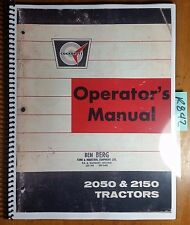 Cockshutt Oliver White 2050 2150 Tractor Owner's Operator's Manual 432 136 4/68