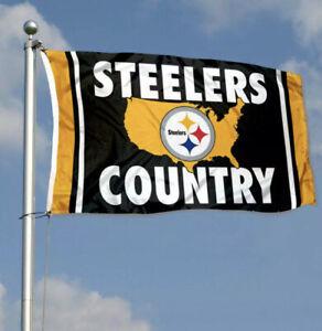 Pittsburgh Steelers Flag Banner 3x5 Ft NFL Football Super Bowl Sports Team