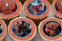 24 X SPIDERMAN HAPPY BIRTHDAY CUPCAKE TOPPERS EDIBLE PREMIUM RICE PAPER 3583