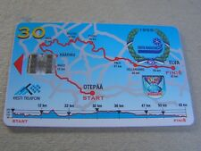 ESTONIA used chipcard      Skiing 1998