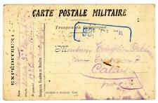 1915 France World War I Military stationery postcard