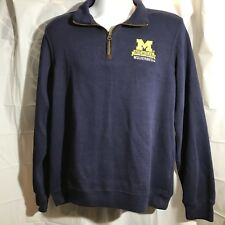 Vintage Champion Michigan Wolverines Blue Quarter Zip Pullover