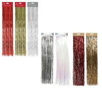 1.2M Christmas Lametta Strands Angel Hair Gold Silver Red Xmas Tree Decoration