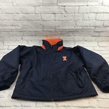 Columbia University of Illinois Men's Coat Jacket Size M Fleece Lined