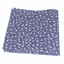Mens Gift Pocket Square Handkerchief Decorative Hanky Blue Flowers R004