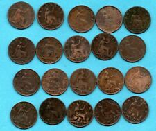 More details for 20 x queen victoria bun head farthing coins dated 1860 - 1894. victorian job lot