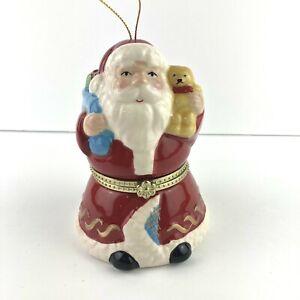 Mr Christmas Santa Christmas Music Box Jingle Bells Or Tree Ornament SEE VIDEO