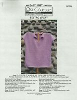 "56/"" Cottonwood Coat Easy Knit Oat Couture EK714 Knitting Pattern Womens 36/"""