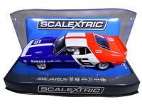 "Scalextric ""Sunoco"" AMC Javelin PCR DPR W/ Tail Lights 1/32 Scale Slot Car C3731"