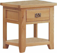 Oak Traditional Side & End Tables with Drawers