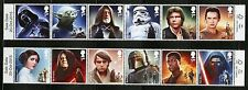 GREAT BRITAIN  2015  STAR WARS  SET OF 12 MINT  NH