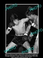 OLD 8x6 HISTORIC PHOTO OF BOXER ALFONSO ZAMORA v THOMJIT SUKOTHAI c1977