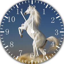 White Horse Frameless Borderless Wall Clock Nice For Gifts or Decor W417